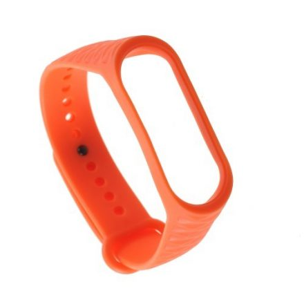 Pótszíj Xiaomi Mi Band 3 Óraszíj - RMPACK - Rhombus Style Narancssárga