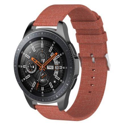 Samsung Galaxy Watch 46mm Óraszíj - Pótszíj Textil Canvas Narancssárga