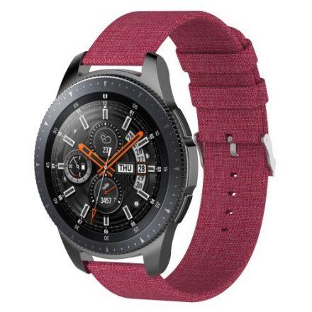 Samsung Galaxy Watch 46mm Óraszíj - Pótszíj Textil Canvas Piros