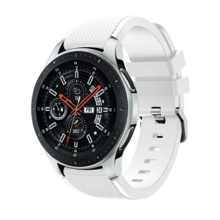 Szilikon Óraszíj - Pótszíj Samsung Galaxy Watch 46mm - Sport Style Series Fehér