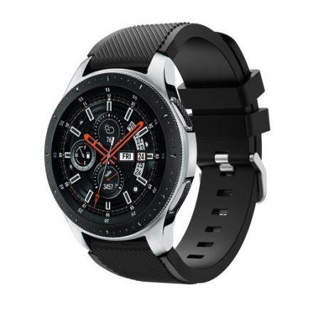 Szilikon Óraszíj - Pótszíj Samsung Galaxy Watch 46mm - Sport Style Series Fekete