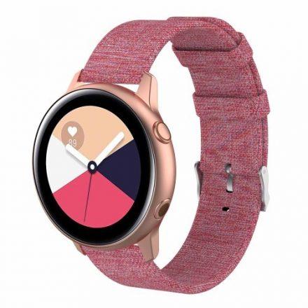 Samsung Galaxy Watch Active Óraszíj - Pótszíj Textil Canvas Rózsaszín