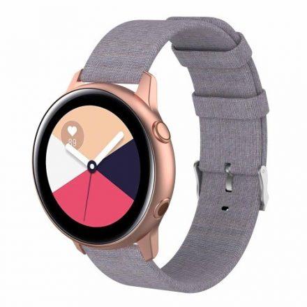 Samsung Galaxy Watch Active Óraszíj - Pótszíj Textil Canvas VilágosSzürke