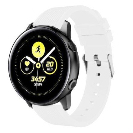 Szilikon Óraszíj - Pótszíj Samsung Galaxy Active SM-R500 Sport Style Series Fehér