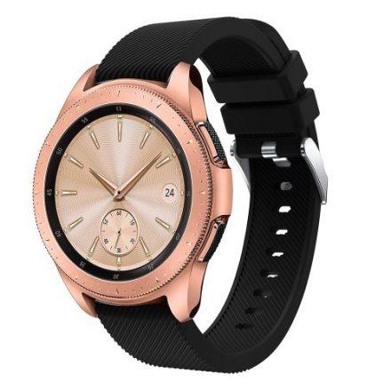 Samsung Galaxy Watch 42mm Szíj Sport Style Series Szilikon Pótszíj Fekete