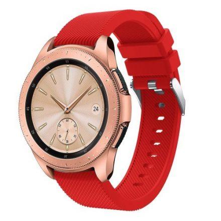 Samsung Galaxy Watch 42mm Szíj Sport Style Series Szilikon Pótszíj Piros