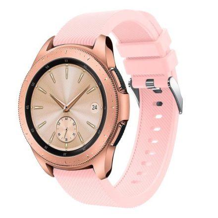 Samsung Galaxy Watch 42mm Szíj Sport Style Series Szilikon Pótszíj Rózsaszín