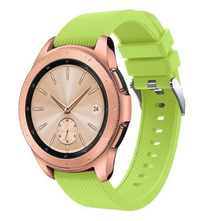 Samsung Galaxy Watch 42mm Szíj Sport Style Series Szilikon Pótszíj Zöld