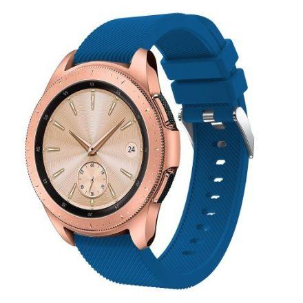 Samsung Galaxy Watch 42mm Szíj Sport Style Series Szilikon Pótszíj Sötétkék