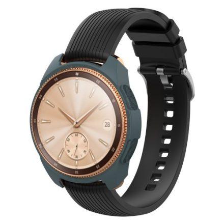 Samsung Galaxy Watch 42mm Szilikon Tok - Keretvédelemmel Sötétkék