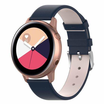 Samsung Galaxy Watch Active Óraszíj Pótszíj - Bőr Elegant Series Kék