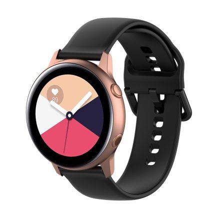 Samsung Galaxy Watch Active Szilikon Pótszíj Óraszíj - Smart Collect Fekete