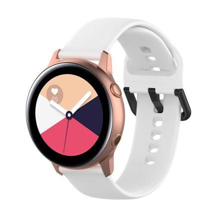 Samsung Galaxy Watch Active Szilikon Pótszíj Óraszíj - Smart Collect Fehér