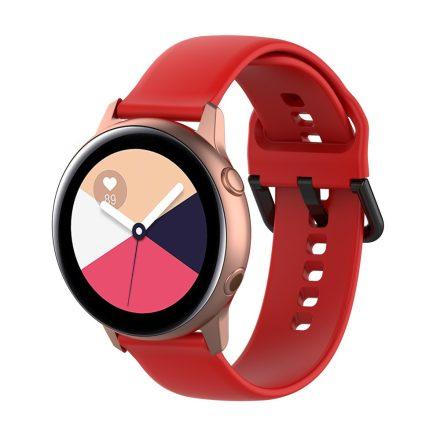 Samsung Galaxy Watch Active Szilikon Pótszíj Óraszíj - Smart Collect Piros