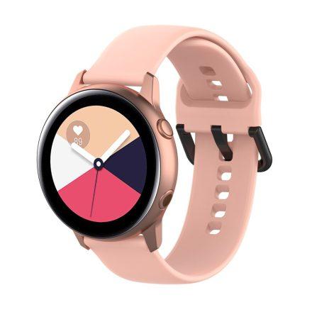 Samsung Galaxy Watch Active Szilikon Pótszíj Óraszíj - Smart Collect Rózsaszín