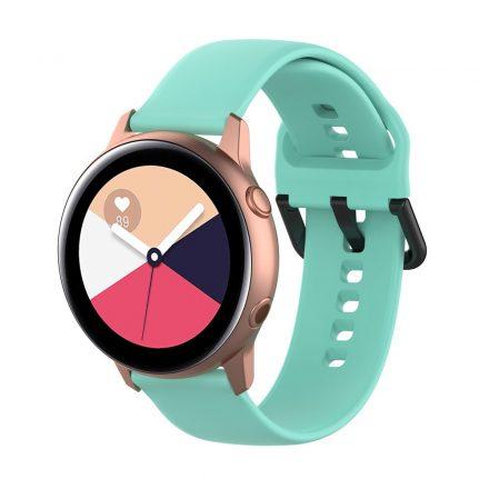 Samsung Galaxy Watch Active Szilikon Pótszíj Óraszíj - Smart Collect Cián
