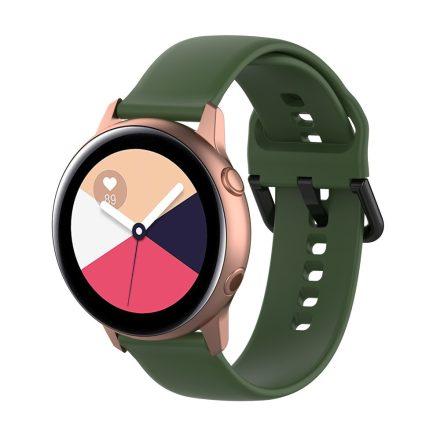 Samsung Galaxy Watch Active Szilikon Pótszíj Óraszíj - Smart Collect Zöld
