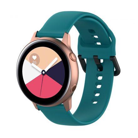 Samsung Galaxy Watch Active Szilikon Pótszíj Óraszíj - Smart Collect SötétZöld