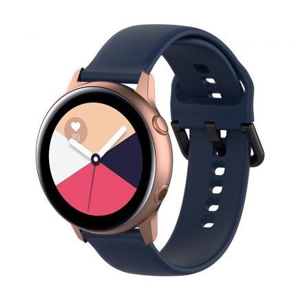 Samsung Galaxy Watch Active Szilikon Pótszíj Óraszíj - Smart Collect Sötétkék