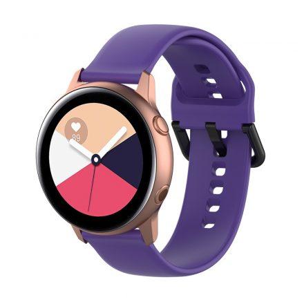 Samsung Galaxy Watch Active Szilikon Pótszíj Óraszíj - Smart Collect Lila