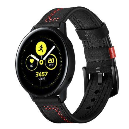 Samsung Galaxy Watch Active Óraszíj Pótszíj - Bőrszíj RMPACK Man Style Fekete