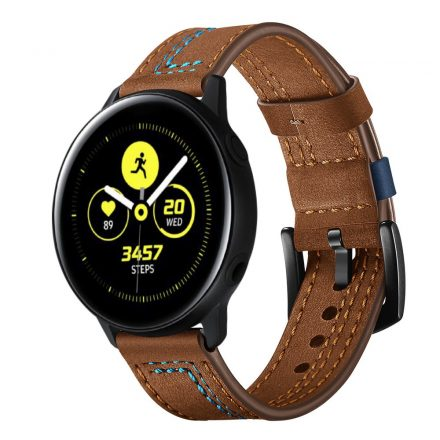 Samsung Galaxy Watch Active Óraszíj Pótszíj - Bőrszíj RMPACK Man Style Barna