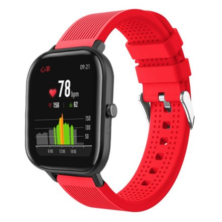 Huawei Amazfit GTS Pótszíj - Óraszíj Szilikon Sport Style Piros