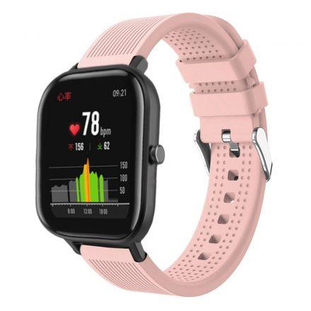 Huawei Amazfit GTS Pótszíj - Óraszíj Szilikon Sport Style Rózsaszín