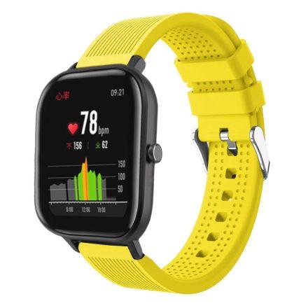 Huawei Amazfit GTS Pótszíj - Óraszíj Szilikon Sport Style Sárga