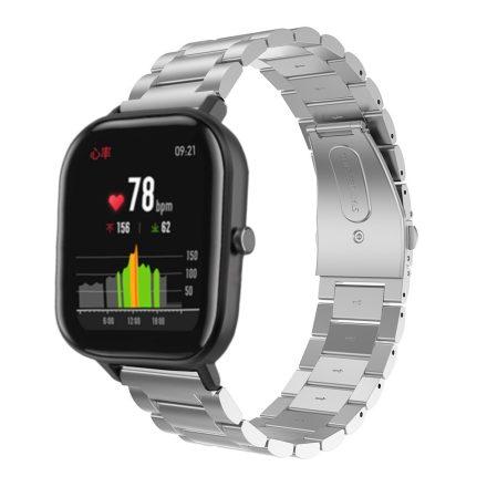 Huawei Amazfit GTS Óraszíj Fémszíj - Pótszíj Steel Edition Ezüst