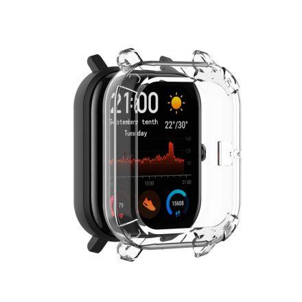 Huawei Amazfit GTS Okosóra Előlapi Védőkeret - Cover Protection Fehér