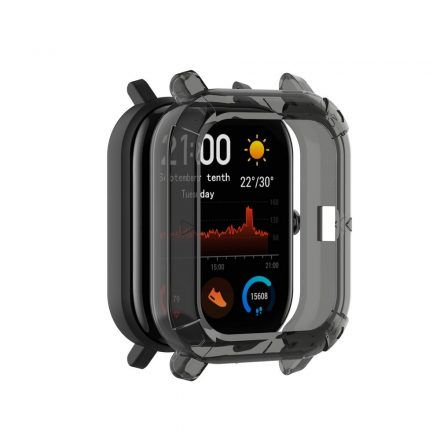 Huawei Amazfit GTS Okosóra Előlapi Védőkeret - Cover Protection Fekete