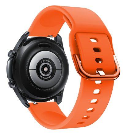 RMPACK Samsung Galaxy Watch 3 45mm Óraszíj Pótszíj Okosóra Szíj Szilikon Nature Narancssárga