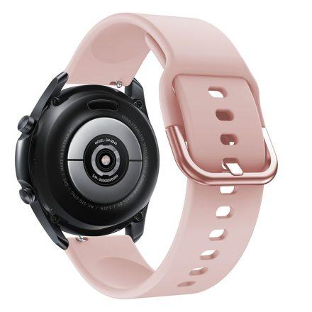 RMPACK Samsung Galaxy Watch 3 45mm Óraszíj Pótszíj Okosóra Szíj Szilikon Nature Rózsaszín