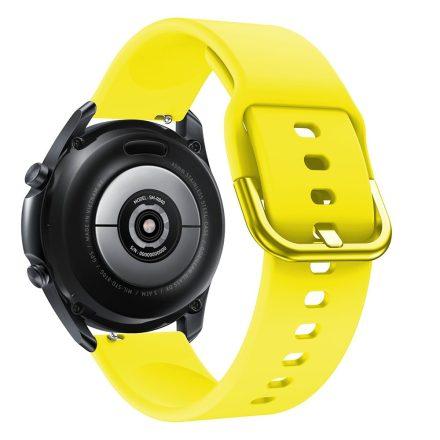 RMPACK Samsung Galaxy Watch 3 45mm Óraszíj Pótszíj Okosóra Szíj Szilikon Nature Sárga