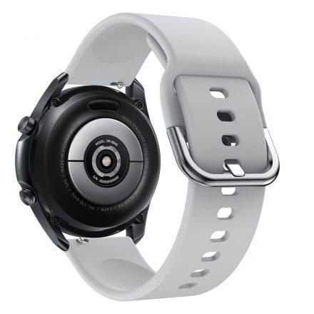 RMPACK Samsung Galaxy Watch 3 45mm Óraszíj Pótszíj Okosóra Szíj Szilikon Nature Szürke