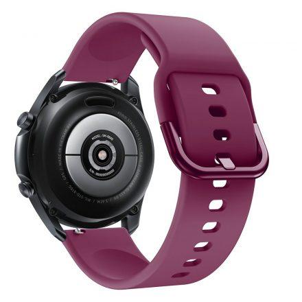 RMPACK Samsung Galaxy Watch 3 45mm Óraszíj Pótszíj Okosóra Szíj Szilikon Nature Lila