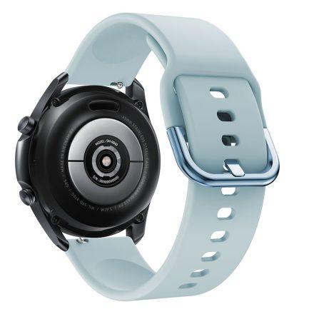 RMPACK Samsung Galaxy Watch 3 45mm Óraszíj Pótszíj Okosóra Szíj Szilikon Nature Világoskék
