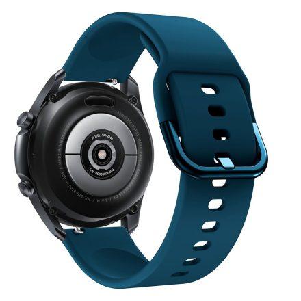RMPACK Samsung Galaxy Watch 3 45mm Óraszíj Pótszíj Okosóra Szíj Szilikon Nature SötétZöld