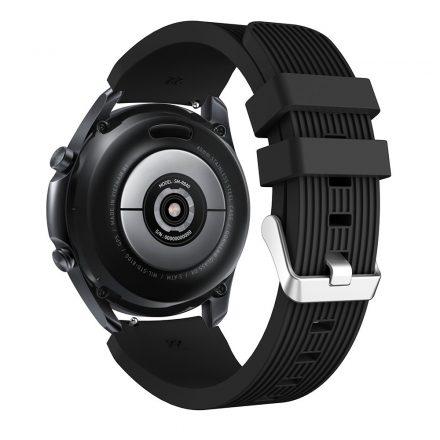 RMPACK Samsung Galaxy Watch 3 45mm Pótszíj Okosóra Szíj Óraszíj Szilikon Sport Style Fekete