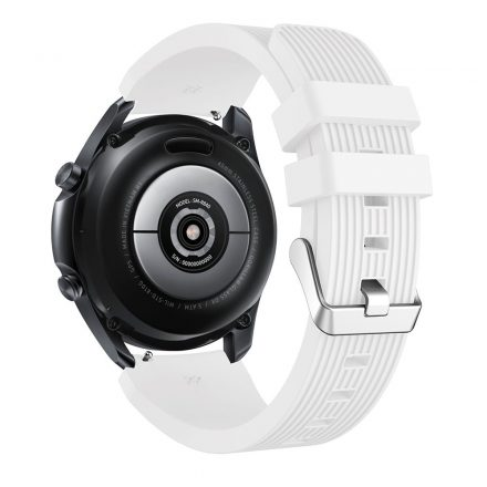 RMPACK Samsung Galaxy Watch 3 45mm Pótszíj Okosóra Szíj Óraszíj Szilikon Sport Style Fehér