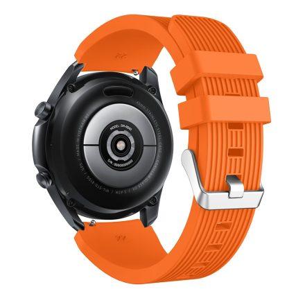 RMPACK Samsung Galaxy Watch 3 45mm Pótszíj Okosóra Szíj Óraszíj Szilikon Sport Style Narancssárga