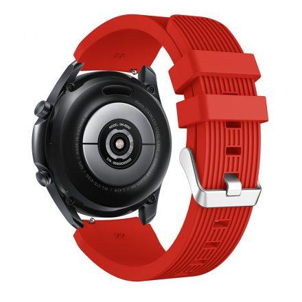 RMPACK Samsung Galaxy Watch 3 45mm Pótszíj Okosóra Szíj Óraszíj Szilikon Sport Style Piros