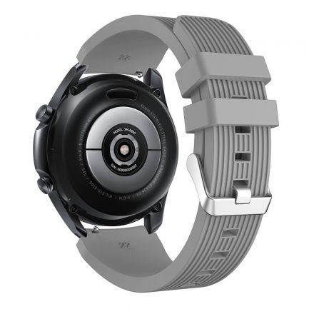 RMPACK Samsung Galaxy Watch 3 45mm Pótszíj Okosóra Szíj Óraszíj Szilikon Sport Style Szürke