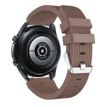 RMPACK Samsung Galaxy Watch 3 45mm Pótszíj Okosóra Szíj Óraszíj Szilikon Sport Style Barna