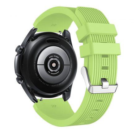RMPACK Samsung Galaxy Watch 3 45mm Pótszíj Okosóra Szíj Óraszíj Szilikon Sport Style Zöld