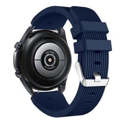 RMPACK Samsung Galaxy Watch 3 45mm Pótszíj Okosóra Szíj Óraszíj Szilikon Sport Style Sötétkék