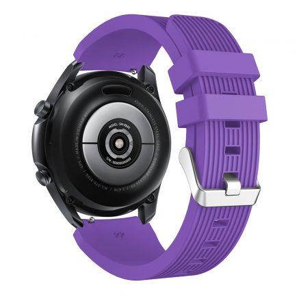 RMPACK Samsung Galaxy Watch 3 45mm Pótszíj Okosóra Szíj Óraszíj Szilikon Sport Style Lila