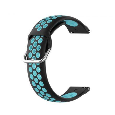 RMPACK Samsung Galaxy Watch 3 45mm Okosóra Szíj Pótszíj Óraszíj Hollow Style Fekete/Kék