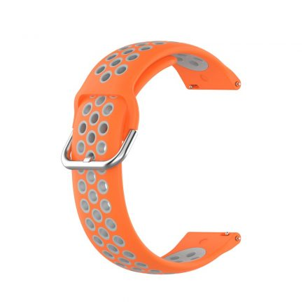RMPACK Samsung Galaxy Watch 3 45mm Okosóra Szíj Pótszíj Óraszíj Hollow Style Narancssárga/Szürke